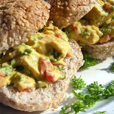 Chicken Salad in a Whole Wheat Bread Bowl