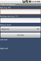 Screenshot of Pulse Fat Burner