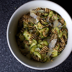 Zucchini and Almond Pasta Salad