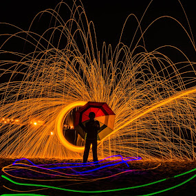 by Jayasimha Nuggehalli - Abstract Light Painting ( moods, lighting, people, mood lighting, man,  )