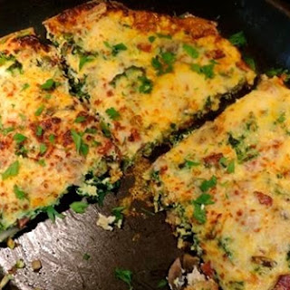 Smoked Sausage Frittata With Mushrooms And Kale