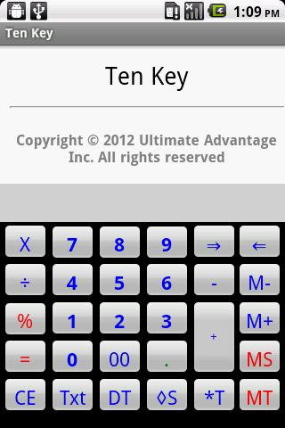 Ten Key Calculator