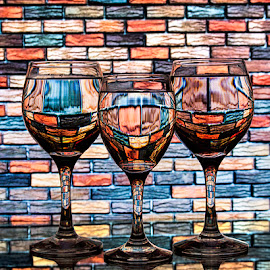 Another Brick in the wall by Rakesh Syal - Artistic Objects Glass (  )