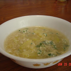 Zucchini Parmesan Soup With Rice