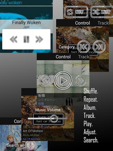 Poweramp Remote 4 Android Wear - screenshot