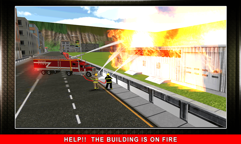 911 Rescue Fire Truck 3D Sim Screenshot 3
