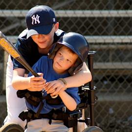 by Tony Dunn - Sports & Fitness Baseball ( teamwork, baseball, outdoor, helping hand, sports )