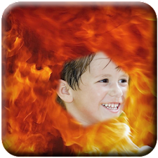 Transparent Fire Photo Effect