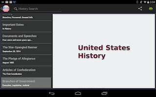Screenshot of United States History -