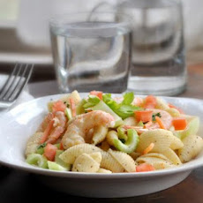 Pasta Shell and Shrimp or Ham Salad