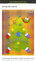 Screenshot of Cut the Rope Holiday Gift Help