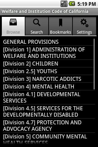CA Welfare Institution Code