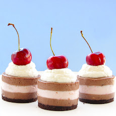 Mini Black Forest Cheesecake