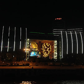 Fancy Building by Joyce Li - Buildings & Architecture Architectural Detail ( buildings, glow, shanghai, china, nightscape,  )