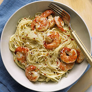 Angel Hair Pasta with Shrimp and Parmesan Lemon Cream Sauce Recipe ...