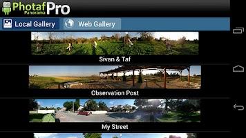 Screenshot of Photaf Panorama Pro