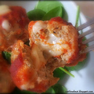 Provolone-Stuffed Chicken Parmesan Meatballs
