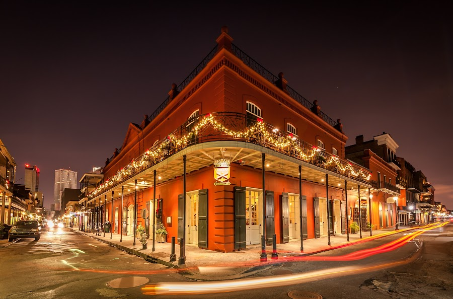 The French Spirit by Ivan Anchev - City,  Street & Park  Night ( cityscapes, new orleans, old buildings, louisiana, french quarter, historic district )