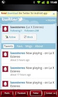 Screenshot of La X Estereo 100% Salsa