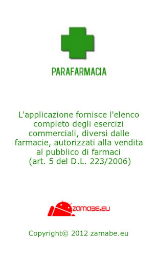 Open Data Parafarmacie