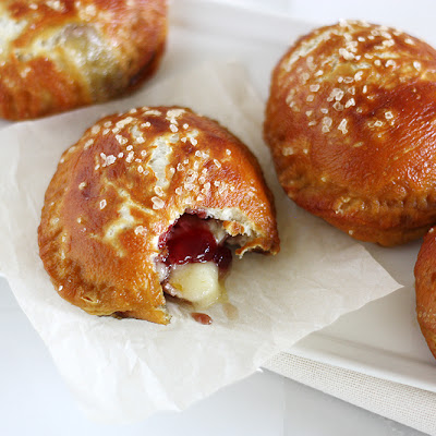 Brie and Jam Pretzel Hand Pies