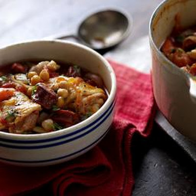 Chorizo, Chicken And Chickpea Casserole