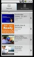 Screenshot of Brainshark Video Presentations