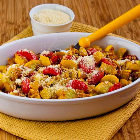 Val's Easy and Amazing Yellow Squash with Tomatoes and Parmesan