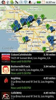 Screenshot of Live Food Trucks Map - TruxMap
