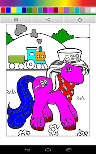 Pony Pony Friendship Coloring - screenshot