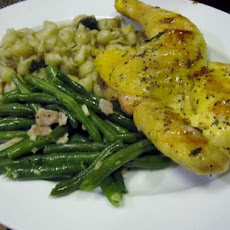 Grilled Herbed Cornish Game Hens