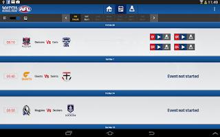 Screenshot of Watch AFL Global Pass