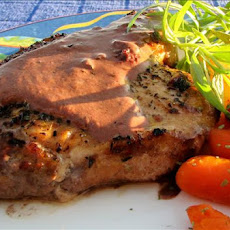 Pork With Creamy Tarragon Wine Sauce