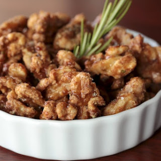 Maple-Rosemary Glazed Walnuts