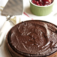 Chocolate Cranberry Cake with Chocolate Icing