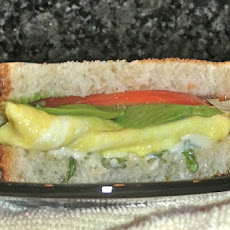 Avocado, Egg and Tomato Sandwich with Pesto Mayo