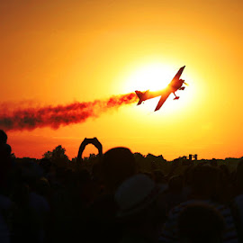 Sunset ride by Nicu Buculei - Transportation Airplanes ( plane, sunset, airplane, trail, airshow,  )