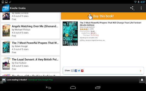 Gratis ebooks for Kindle Screenshot