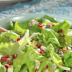 Cranberry-Almond Green Salad with Honey Mustard Vinaigrette