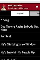 Screenshot of Bed Intruder Soundboard