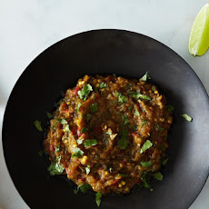 (Almost) Spiceless Eggplant Bharta