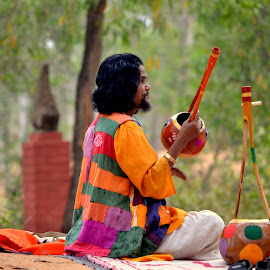 colors of divinity by Sayantan Mukherjee - People Musicians & Entertainers ( folk music comfort sancity divinity colors )