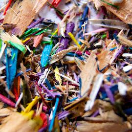 Pencil shavings by Renier Van Niekerk - Novices Only Macro ( pencil, macro, novice, colorful, color, macro photography, colors, pencils,  )