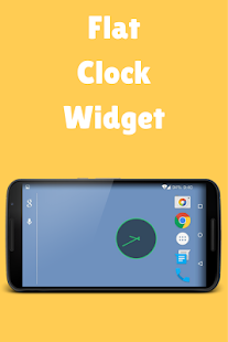 Flat Clock Widget - screenshot