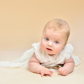 Christening dress by Melanie Pista - Babies & Children Babies ( lace, sweet, baby girl, blue eyes, cream )