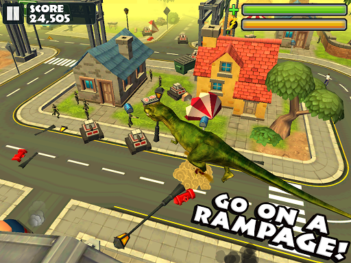 Jurassic Rampage: Smash City - screenshot