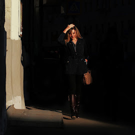 on the sunny side by Vlad Sidorak - People Street & Candids ( woman, street, light, street photography,  )