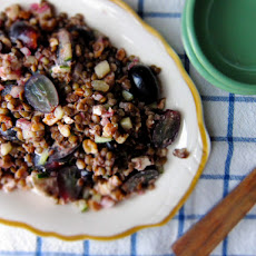Lentil-Walnut Salad with Grapes & Feta