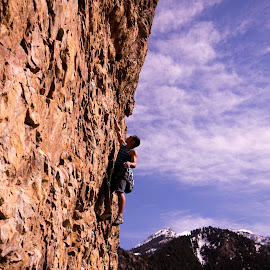 Big Cottonwood 1 by Climb Globe - Sports & Fitness Climbing ( rock climbing, climbing, utah, big cottonwood, salt lake city )