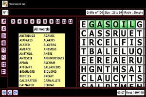 Screenshot of Word Search Tab Eval EN